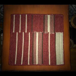 2 New Pottery Barn Kilim Patchwork Stripe Mats